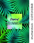 summer tropical background... | Shutterstock .eps vector #1105141868