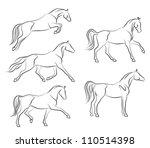 Stock vector horse 110514398