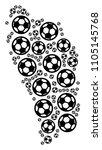 football dominica island map.... | Shutterstock .eps vector #1105145768