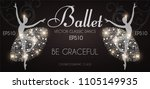 ballet school flyer template.... | Shutterstock .eps vector #1105149935