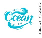 hand sketched world ocean day... | Shutterstock .eps vector #1105152485