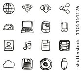 download icons freehand  | Shutterstock .eps vector #1105154126