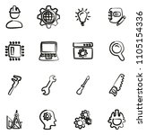 engineering icons freehand  | Shutterstock .eps vector #1105154336