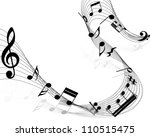 musical design elements from... | Shutterstock .eps vector #110515475