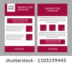 newsletter vector layout... | Shutterstock .eps vector #1105159445