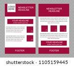newsletter vector layout...   Shutterstock .eps vector #1105159445
