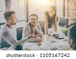 business people meeting at... | Shutterstock . vector #1105167242