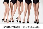 group from beautiful young... | Shutterstock . vector #1105167638