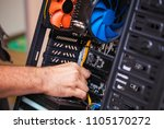 computer technician installs...   Shutterstock . vector #1105170272