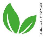 green leaves logo icon. vector... | Shutterstock .eps vector #1105173698