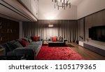 nice luminous modern room with... | Shutterstock . vector #1105179365