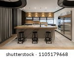 kitchen in a modern style with... | Shutterstock . vector #1105179668