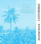 stylized summer poster. eps10...   Shutterstock .eps vector #1105180862