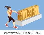 healthy woman breaking the word ... | Shutterstock .eps vector #1105182782