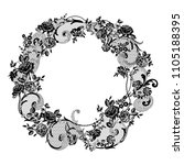 lace flowers frame decoration... | Shutterstock .eps vector #1105188395