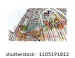 cologne cathedral is a catholic ... | Shutterstock .eps vector #1105191812