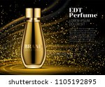 woman parfume realistic gold... | Shutterstock .eps vector #1105192895
