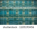 unfinished cement building with ... | Shutterstock . vector #1105193456