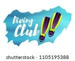 diving club. vector... | Shutterstock .eps vector #1105195388