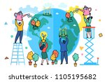 concept of ecology. world... | Shutterstock .eps vector #1105195682