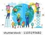 concept of ecology. world... | Shutterstock .eps vector #1105195682