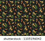 vintage floral background.... | Shutterstock .eps vector #1105196042