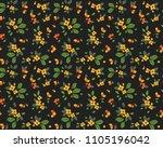 vintage floral background.... | Shutterstock .eps vector #1105196042