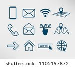 contact icons set  smartphone ... | Shutterstock .eps vector #1105197872