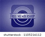 free membership badge with... | Shutterstock .eps vector #1105216112