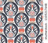 scandinavian seamless folk art... | Shutterstock .eps vector #1105217648