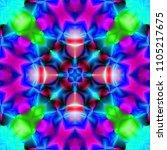 psychedelic background.... | Shutterstock . vector #1105217675