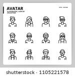 avatar icon set  | Shutterstock .eps vector #1105221578