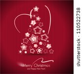 red merry christmas card with... | Shutterstock .eps vector #110522738