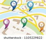 set of tourism services map... | Shutterstock .eps vector #1105229822