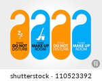 vector  orange and blue door... | Shutterstock .eps vector #110523392