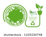 ecology connection  concept... | Shutterstock .eps vector #1105234748