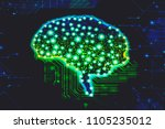 alzheimer brain disease concept ... | Shutterstock . vector #1105235012