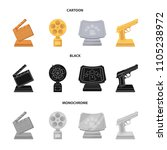 gold pistol  silver prize for...   Shutterstock .eps vector #1105238972
