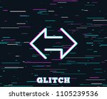 glitch effect. sync arrows line ... | Shutterstock .eps vector #1105239536