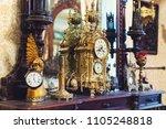 old vintage antique bronze... | Shutterstock . vector #1105248818