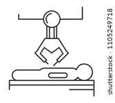 robotic surgery line icon.... | Shutterstock .eps vector #1105249718