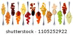 set of different sauces with... | Shutterstock . vector #1105252922