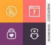 modern  simple vector icon set...   Shutterstock .eps vector #1105265846