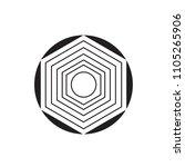 creative line art hexagon and...   Shutterstock .eps vector #1105265906