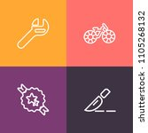 modern  simple vector icon set... | Shutterstock .eps vector #1105268132