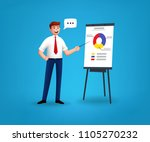 businessman characters near the ... | Shutterstock .eps vector #1105270232