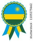 rwanda award ribbon vector in... | Shutterstock .eps vector #1105275662