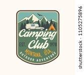 camping club. vector... | Shutterstock .eps vector #1105275896