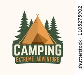 camping extreme adventure .... | Shutterstock .eps vector #1105275902