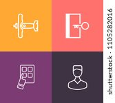 modern  simple vector icon set... | Shutterstock .eps vector #1105282016